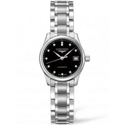Longines Master Diamond Set Black Dial Bracelet Watch L21284576