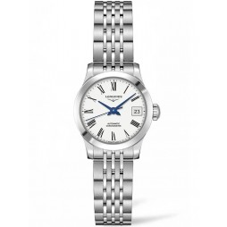 Longines Record White Dial Bracelet Watch L23204116