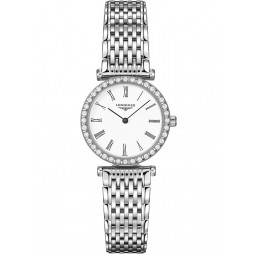 Longines La Grande Classique Diamond Set White Dial Bracelet Watch L43410116