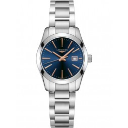 Longines Conquest Blue Dial Silver Bracelet Watch L22864926