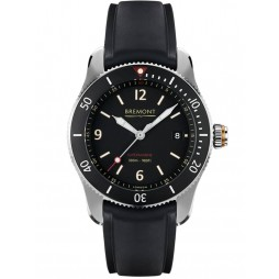 Bremont SUPERMARINE S300 Black Strap Watch S300/BK