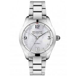 Bremont SOLO-34 AJ White Mother of Pearl Dial Bracelet Watch SOLO-34 AJ/MP-BR