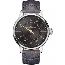MeisterSinger Mens Perigraph Automatic Strap Watch AM1007OR