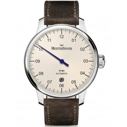 MeisterSinger Mens No. 03 Automatic Leather Strap Watch DM903