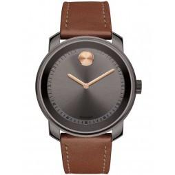 Movado Mens Bold Brown Watch 3600378