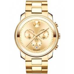 Movado Mens Bold Gold Watch 3600278