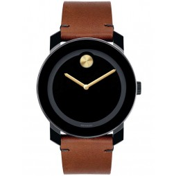 Movado Mens Bold Black Watch 3600305