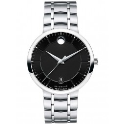 Movado Mens 1881 Automatic Black Watch 0606914