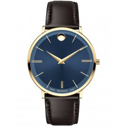 Movado Mens Ultra Slim Blue Watch 0607088