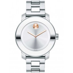 Movado Ladies Bold Silver Watch 3600084
