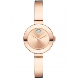 Movado Ladies Bold Rose Gold Watch 3600286