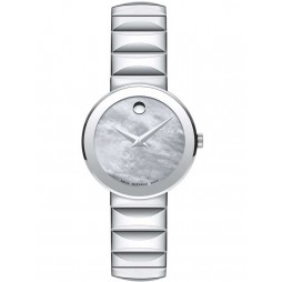 Movado Ladies Sapphire Mother Of Pearl Watch 0607048