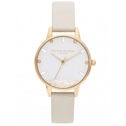 Olivia Burton Wishing Watch Gold Plated Nude Strap Watch OB16SG09