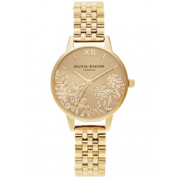 Olivia Burton Bejewelled Lace Gold Plated Bracelet Watch OB16MV105