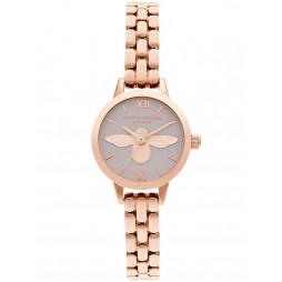 Olivia Burton Mini 3D Bee Blush and Rose Gold Bracelet Watch OB16MC53