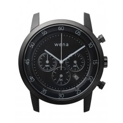Wena Wrist Quartz Chronograph Black Watch Head WNWHWC01BB.AE