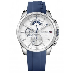 Tommy Hilfiger Decker White Dial Blue Silicone Strap Watch 1791349