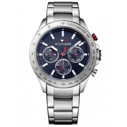 Tommy Hilfiger Hudson Stainless Steel Blue Chronograph Dial Bracelet Watch 1791228