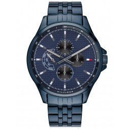Tommy Hilfiger Shawn Blue Stainless Steel Chronograph Dial Bracelet Watch 1791618