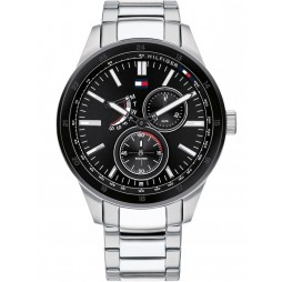 Tommy Hilfiger Austin Stainless Steel Black Chronograph Dial Bracelet Watch 1791639