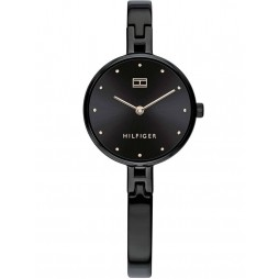 Tommy Hilfiger Kit Stainless Steel Black Dial Slimline Bracelet Watch 1782136