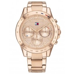 Tommy Hilfiger Haven Pale Gold Plated Date Dial Bracelet Watch 1782197