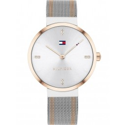 Tommy Hilfiger Liberty Two Tone Mesh Bracelet Crystal Watch 1782221