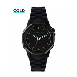 KAMAWATCH Castell Forest Black and Green Camo Plastic Bracelet Watch KWP17