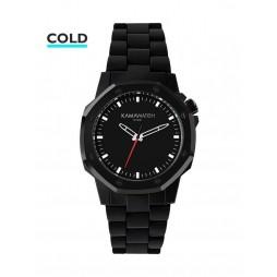 KAMAWATCH Castell Myst Black and Grey Camo Plastic Bracelet Watch KWP18
