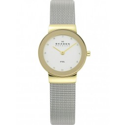 Skagen Ladies Two Tone Mesh Bracelet Watch 358SGSCD