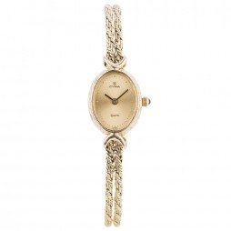 Pre-Owned Cyma Ladies 14ct Yellow Gold Quartz Watch 4118206