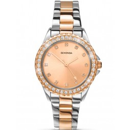 Sekonda Ladies Temptations Rose Gold Two Plated Bracelet Watch 4254