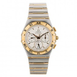 Pre-Owned Omega Constellation Chronograph Two Tone Bracelet Watch 4406005-31153
