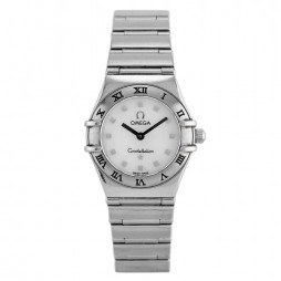 Pre-Owned Omega Constellation My Choice Mini White Bracelet Watch 1561.71.00