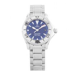 Pre-Owned Omega Seamaster Blue Bracelet Watch 2285.80.00 (I499638)