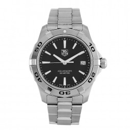 Pre-Owned TAG Heuer Aquaracer Black Bracelet Watch WAP1110