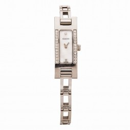 Pre-Owned Gucci Ladies G-Link Diamond Set Watch 4410014