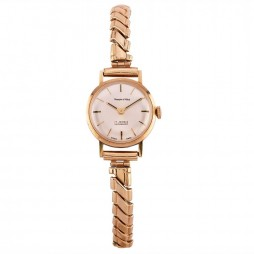 Pre-Owned Mappin & Webb Incabloc 9ct Rose Gold Mechanical Bracelet Watch D516495(450)