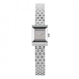 Pre-Owned Gucci G-Frame Silver Bracelet Watch YA128501