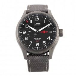 Pre-Owned Oris GMT Big Crown Propilot Rega Limited Edition Grey Strap Watch 01 748 7710 4284-Set