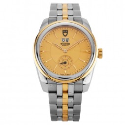 Pre-Owned Tudor Glamour Double Date Two Tone Bracelet Watch 57003-68073