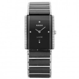 Pre-Owned Rado Jubile Diamond Star Black Bracelet Watch H511032(445)