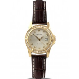 Sekonda Ladies Brown Strap Watch 4586