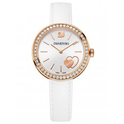 Swarovski Daytime Heart White Strap Watch 5179367