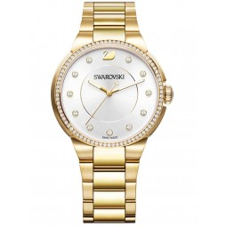 Swarovski City Gold Tone Bracelet Watch 5213729