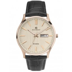 Accurist Mens Leather Strap Watch 7235