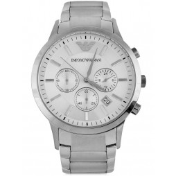 Emporio Armani Mens White Dial Watch AR2458