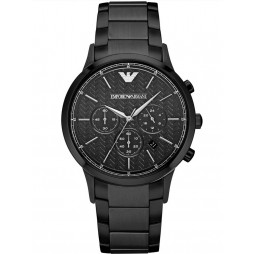 Emporio Armani Mens Black Chronograph Bracelet Watch AR2485