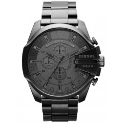 Diesel Mens Mega Chief Gry Stainless Steel Bracelet Chronograph Watch DZ4282