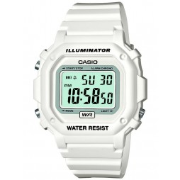 Casio White Rubber Strap Chronograph Digital Digital Watch F-108WHC-7BEF